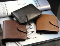 Free shipping!2013 New  High quality Men genuine leather short design vertical wallet male purpse C395