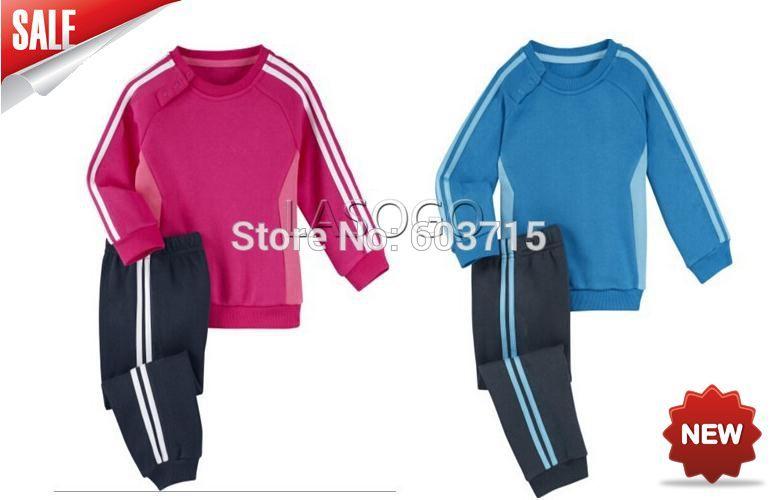 Retail drop shipping Brand new on Children Autumn clothing Boys & Girls long sleeve sweaters + pants 2pcs set children clothing(China (Mainland))