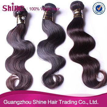 Guangzhou shine hair trading Co.Ltd 5A grade remy virgin Brazilian hair weft