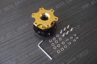 New Universal Steering Wheel Quick Release Kit Black Hub Adapter Snap Off