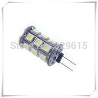 free shipping 10pcs G4 24 LED 5050 SMD 360 Degree White Car Marine Camper RV Light Lamp Bulb DC12V