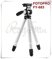 100% NEW Universal Camera Folding Portable Tripod Fotopro FY-683 for Canon Nikon Pentax -White Color