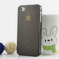 50pcs/lot For iPhone 4 4S 0.5mm Ultra Thin PC Transparent Phone Cases Design Pure Color Case Cover For iPhone4 4S