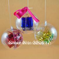 EMS Free Shipping!Wholesales 160pcs/Lot Diameter 10cm Transparent Plastic Ball Christmas decorative ball Clear Plastic Ball