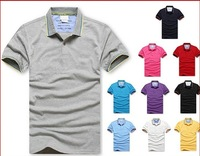 2013 Brand New fashion men's short polo shirt casual brand polo shirt polo shirts free shipping