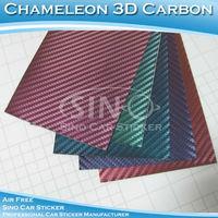 1.52x30M 5FTx98FT Free Shipping Chameleon Carbon Fiber Auto Fashionable Vinyl Sticker