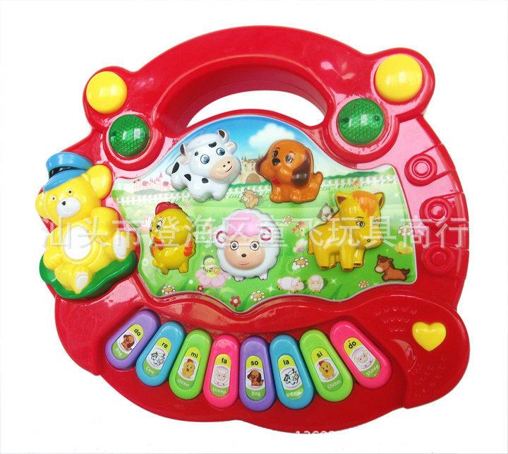 AVAmr25 Baby Kid's Popular Animal Farm Piano Music Toy Electrical Keyboard Developmental Piano Toy Free Shipping(China (Mainland))