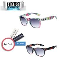 Wholesale  Glasses Cute Designer  Sunglasses  Womens Blogger Fashion Floral Flower Print Sunglasses