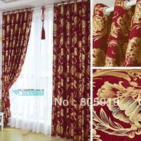 Free Shipping Heavy Drapes For Bedroom Study Room Light Blocking Curtains Flat Head 2PCS/Lot