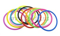 40% OFF Free shipping!!100Strands/Lot Men Jewelry Donut mixed colors 60x60x3.50mm Inner Diameter:Approx 55mm Silicone Bracelets