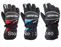 Outdoor automobile race ride gloves professional ski gloves thermal slip-resistant windproof waterproof