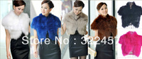 2013 New Arrival Women Fox Fur Coats Short Sleeve Business/Office Ladies' Elegant Blazers Faux Fur Jacket Short Design bust 88cm