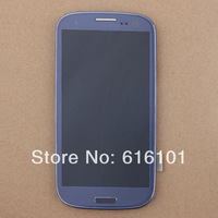 Replacement Touch Digitizer LCD Screen with  Frame Bezel  Assembly For Samsung Galaxy S3 III i9300 Blue 1pc/lot Free shipping