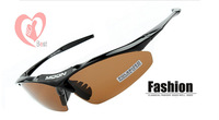 Wholesale - Myopia goggles riding glasses polarized glasses outdoor cycling equipment 5 lens set bicycle glasses Free Shipping