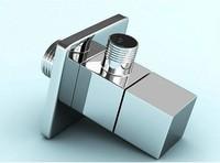 2 pcs free shipping+ bathroom accessory 1/2*1/2 suqare angle valves de17