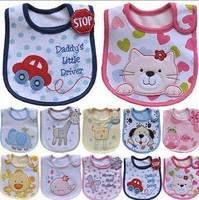 5pcs/lot Cotton Baby boy girls bib Infant saliva towels carter's Baby Waterproof bib Carter Baby wear Free Shipping