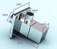 free shipping+ bathroom accessory 1/2*1/2 suqare angle valves de20