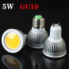 GU10 COB 5W 500LM High Brightness Warm White/Cool White LED Spot Light Bulb Lamp Factory dropshipping(China (Mainland))
