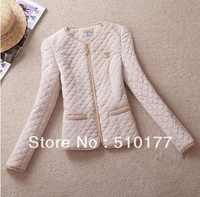 2013 Winter Autumnal Women Cotton Inside Coat Wadded Jacket Female Brand Sherpa Parka, Free shipping