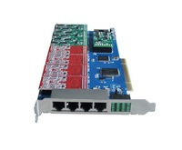 New 16 port FXS/FXO analog Asterisk PCI card wth 8dual FXS/FXO module ,TDM1600P asterisk ip pbx compatible with Digium card