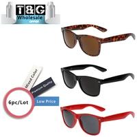 80S Hottest  Retro Frame Glasses Vintage Men/Women  Sun Glasses Trendy Cool Spring Temple Sunglasses