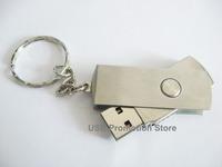 Bulk Sale Lot 5 1GB 2GB 4GB 8GB 16GB Swivel Metal Key Ring USB Flash Drive Memory Stick Pen Drive wholesale   U60