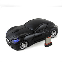 MENGS 2.4G Wireless Optical Mouse High Performance Luxury Vehicles Car Shaped 1600 DPI Black