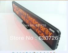 Black Frame Red LED DIP scrolling sign display panel board desk desktop advertising /program rechargable /support any language(China (Mainland))