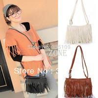 2013 Hot sell Women Leather Messenger Bags Handbags Cross Body Tassel Shoulder Bags Fashion  Wholesale17826