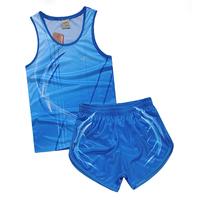 New 2014 autumn summer Cool air child adult paragraph sprint track suit athletic training services set sport suit