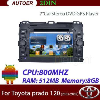 Free shipping 2 Din Car DVD for Toyota prado 120  with Car GPS Bluetooth RDS Radio Car radio car stereo