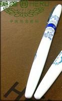 Genuine hero pen free shipping, Hero 9626 super smooth ultra fine iridium-point pen, blue and white porcelain pen 0.38mm
