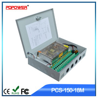 150W 12V 18Ports Boxed CCTV Power Supply, Fuse for Every Output and LED Indicator, 2-year Warranty