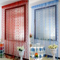 High Quality Wedding Decoration 1*2m Romantic Style Peach Heart Line Shade Curtain/Heart-shaped Curtain/Love Form Line Curtain
