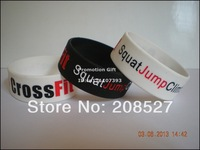 "1PC, Free Shipping, Squat Jump Climb Throw Lift CrossFit  Wristband, Silicon Bracelet, 1"" Wide Band, 2Colours, Adult"