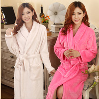 Pure Bathrobe Men Tracksuit For Women Ladies Polar Fleece Nightwear