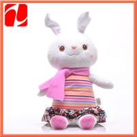 2013 Shenzhen colorful  electronical plush talking rabbit , plush educational rabbit with music recorder
