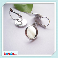 Beadsnice ID6335 free shipping brass fashionable earrings French Lever Back  earring setting 14mm cabochon bases