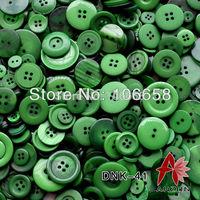 100g Mixed Button DNK-41 Fashion Fastener for Craft And DIY Button Dark Green