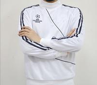 Real Madrid 2015 Champions Shirt 14 15 Football Long Sleeve Soccer Training Jersey Futbol Jacket Black/White/Green