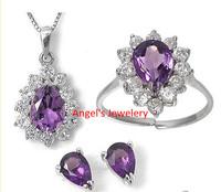 Angel's Jewelery, Fashion Party Jewelery , Amethyst Jewelery Set