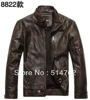 brand motorcycle genuine leather clothing ,men's leather jacket,2013 new fashion 8822