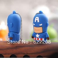 Free Shipping Hotsale Captain America USB Stick/Pen Drive,USB Drive 1GB,2GB,4GB,8GB,16GB,32GB 64GB