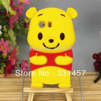 3D Winnie Bear Soft Silicone Cover Case for Samsung Galaxy Y S5360