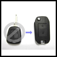 Free shipping for blank Flip Folding Remote Key Shell for Peugeot 206, key case for peugeot 2Button with best price    0101387
