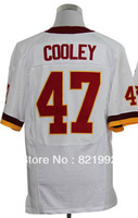Wholesale the USA Washington Men's Elite American Football White Red Jerseys #47 Chris Cooley,Embroidery Logos,Hottest Sale