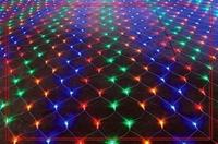 6pcs 110V / 220V 1.5*1.5 M 96 RGB LED Net Light , Fairy Christmas Holiday Decoration, 9 Colors, Mixed color, Free Drop shipping