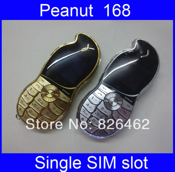 2013 New design peanut 168 fashional mini mobile phone for girl lady women ,with camera,FM