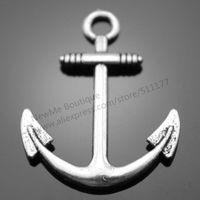 30pcs/lot 31*25mm 2 Colors Antique Silver, Antique Bronze Plated Anchor Charms