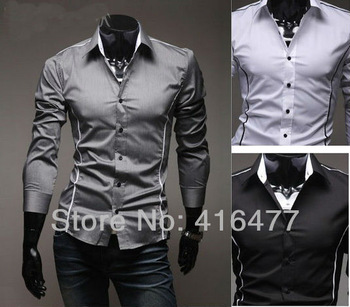 Free Shipping New Mens Shirts Casual Slim Fit Stylish Mens Dress Shirts